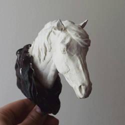 Icelandic horse bust - wip