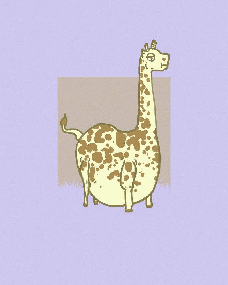 Fat Giraffe By The-Speedfreak On DeviantArt
