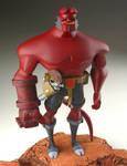 the hellboy sculpt