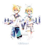 Kagamine Rin+Len by SSuika