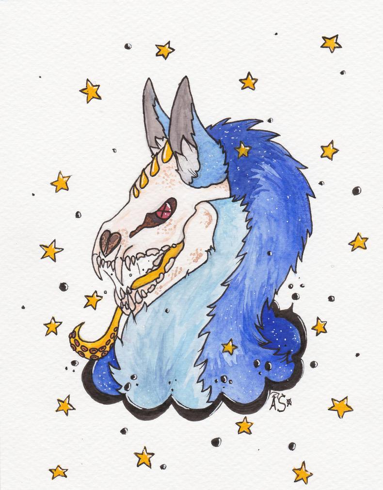 Space doggo by Karma-Virus