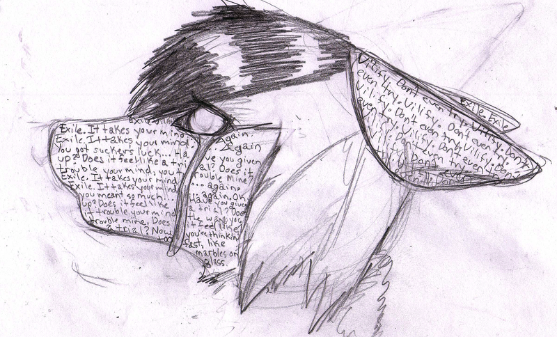 Exile Vilify - Sketch by Hawkheart1