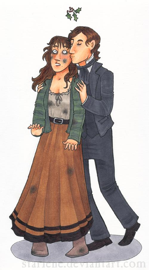 Mistletoe Kisses: E+M for TheWerewolfMustang by Starlene