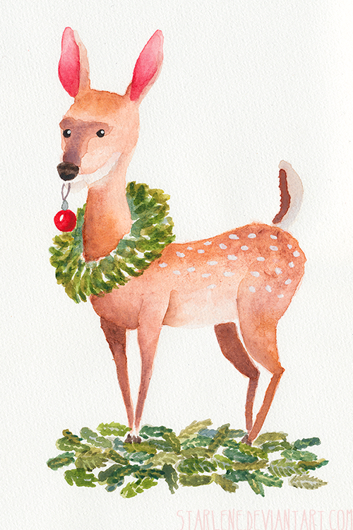 Christmas Deer by Starlene