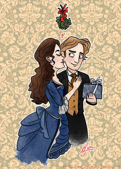 Christmas Cards 4/5: Mistletoe of the Opera