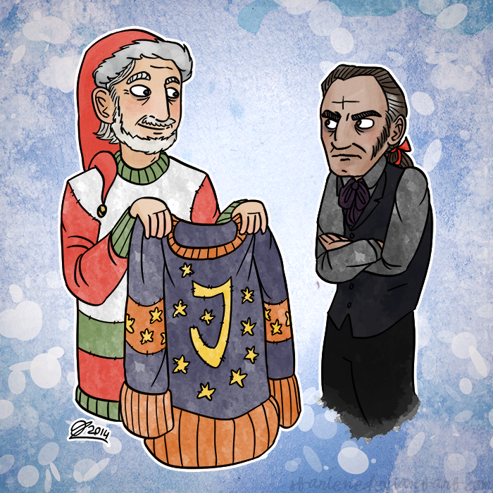 Christmas Cards 5/5: Javert Gets a Gift