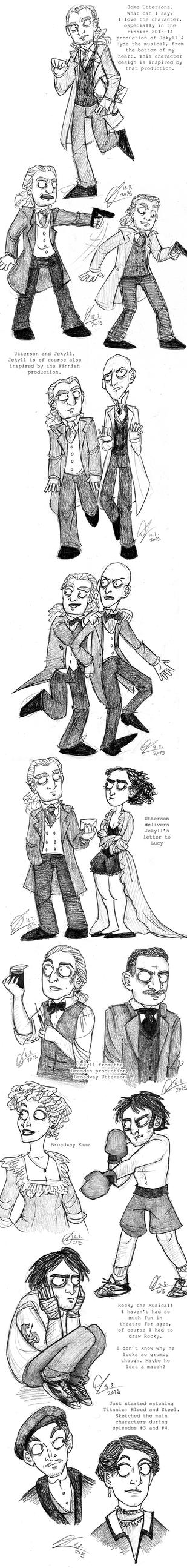 Pencil Sketchdump by Starlene