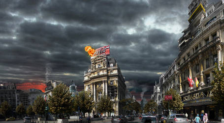 Brussels Chaos city by 4progress