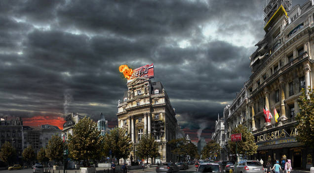 Brussels Chaos city