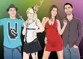 Portrait of my friends by 4progress