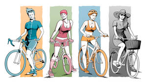 Bike characters by 4progress