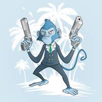 Badass monkey by 4progress