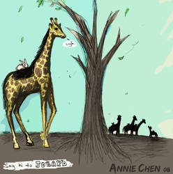 Jobard the Giraffe by lostmaiden