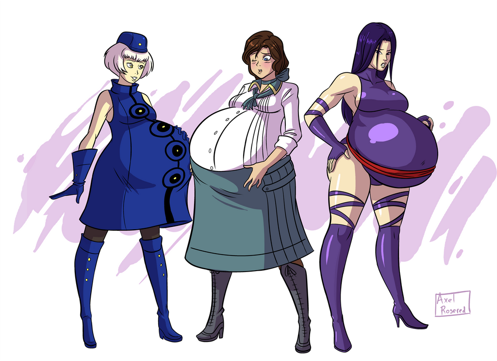 Commission Elizabeths Three By Axel Rosered On DeviantArt