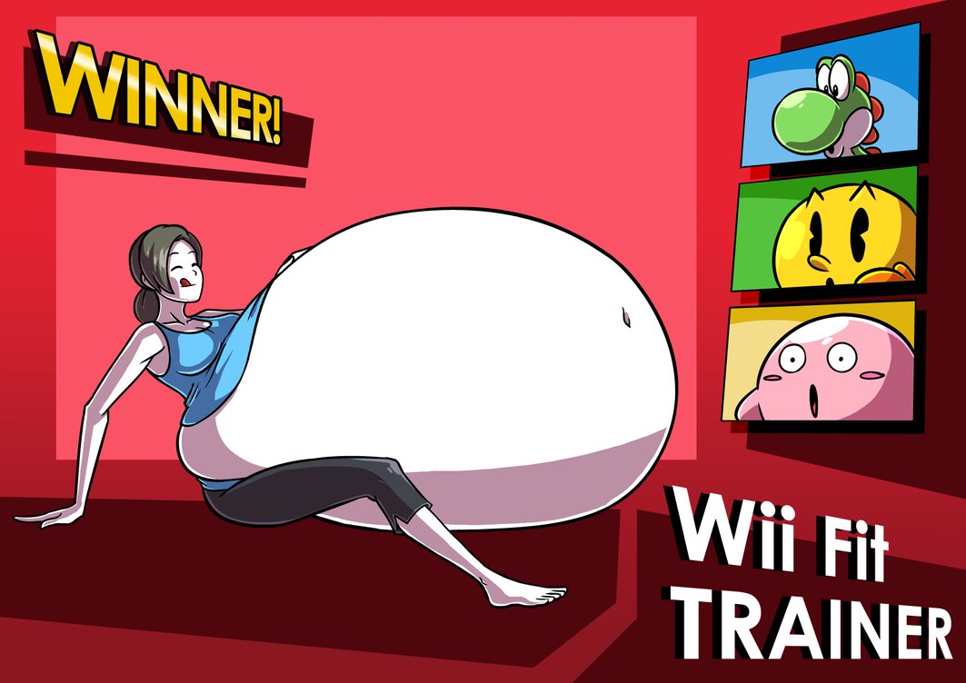 Super Smashing Pack Wii Fit Trainer Eating Contest by Axel-Rosered