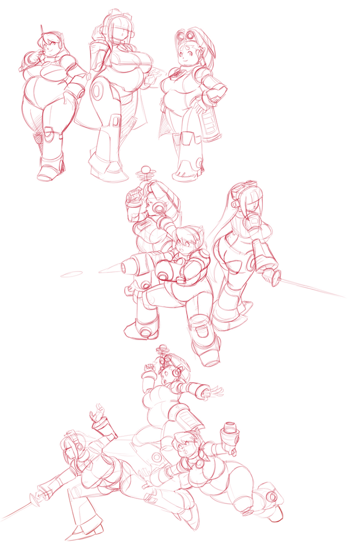 Sketch Page - Heavy Navigators by Axel-Rosered