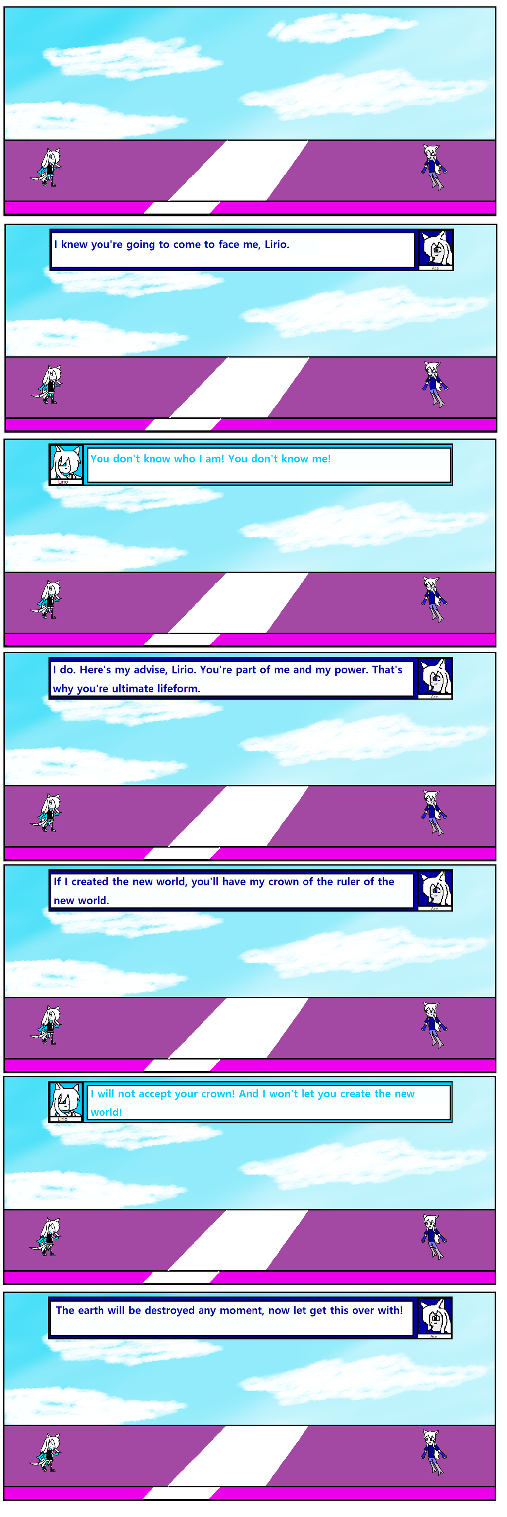 Diamond Star Chapter Final part 28 (Lirio Vs Ace)  by BioProject04