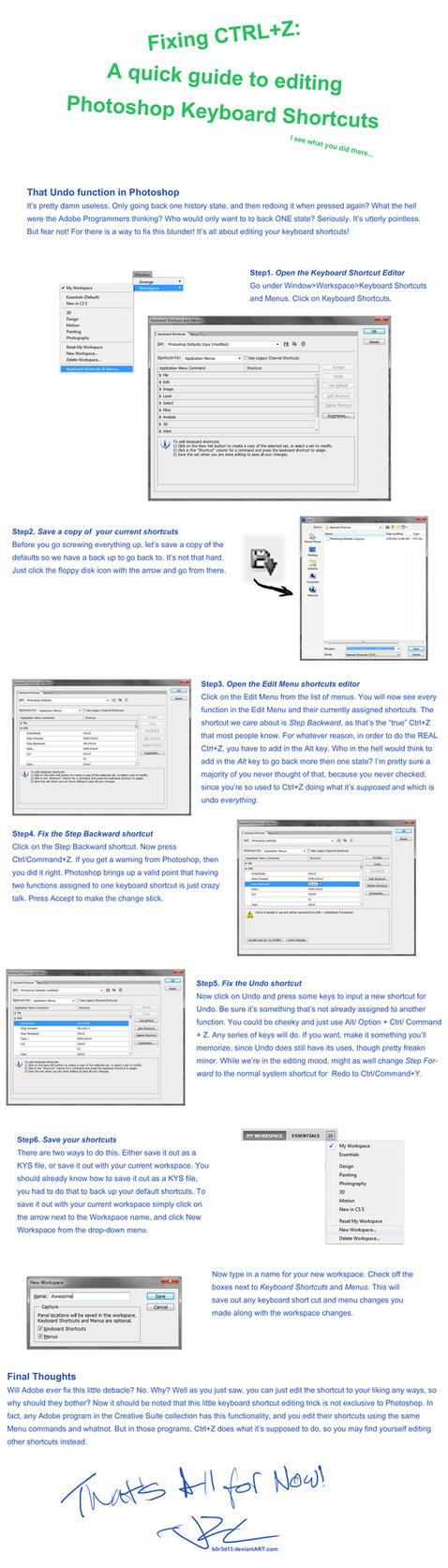 Fixing Ctrl+Z in Photoshop by JRCnrd