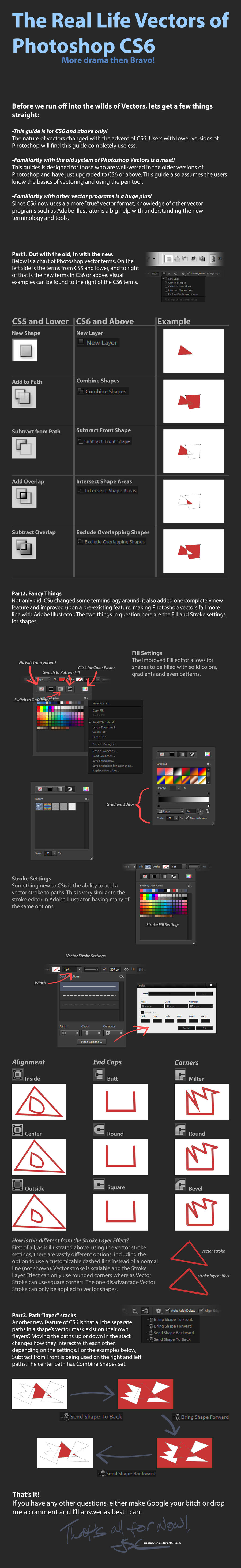 Photoshop CS6 Vector Guide by BrokenTutorials