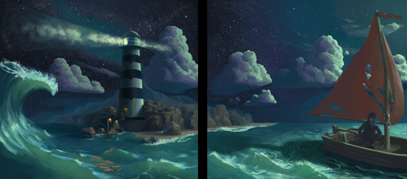 Lighthouse by efraim-ninsiima-art