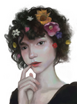 Short Hair, Flowers