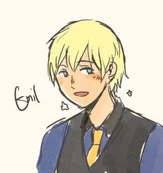 Emil with blond hair
