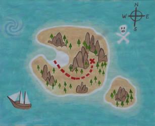 Treasure Map by aztlanwayne