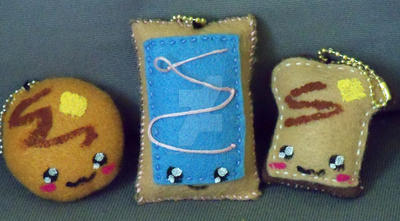 Breakfast Plush Keychains by moonphiredesign