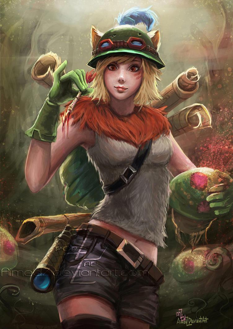 Girl Teemo fanart by AimedZ on DeviantArt