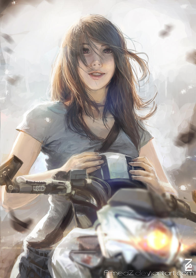 Bikegirl by AimedZ