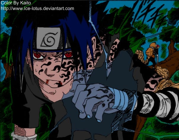 Sasuke Vs Gaara Chidori by ice-lotus on DeviantArt