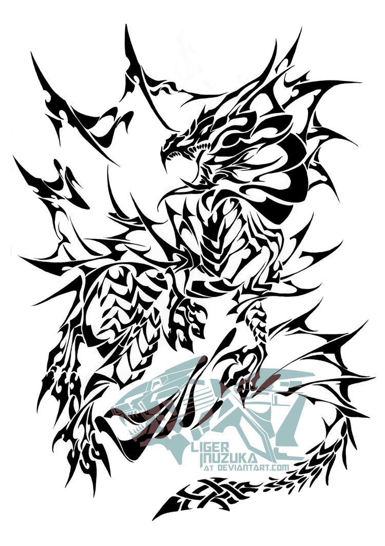 H20 Dragon Tribal by Liger-Inuzuka
