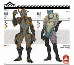 Warframe: Male Ember and Saryn Concept