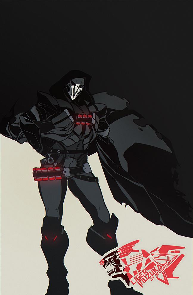 Overwatch Reaper Graphic Poster by Liger-Inuzuka