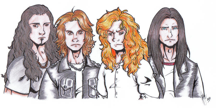 Megadeth 2010 painted by Efe-the-dawnbringer