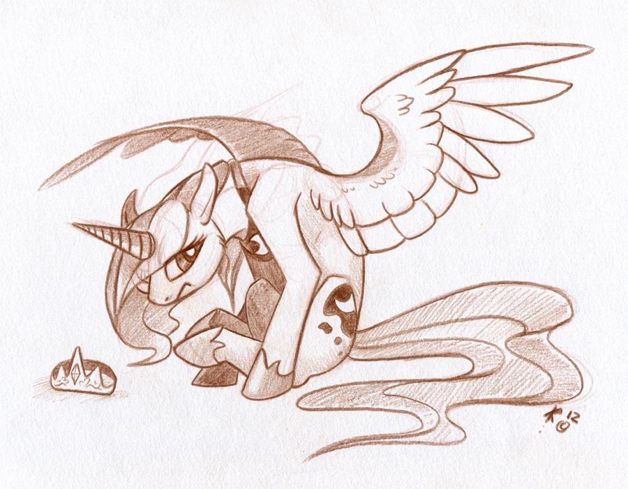 Sulky Luna by Key-FeathersMLP