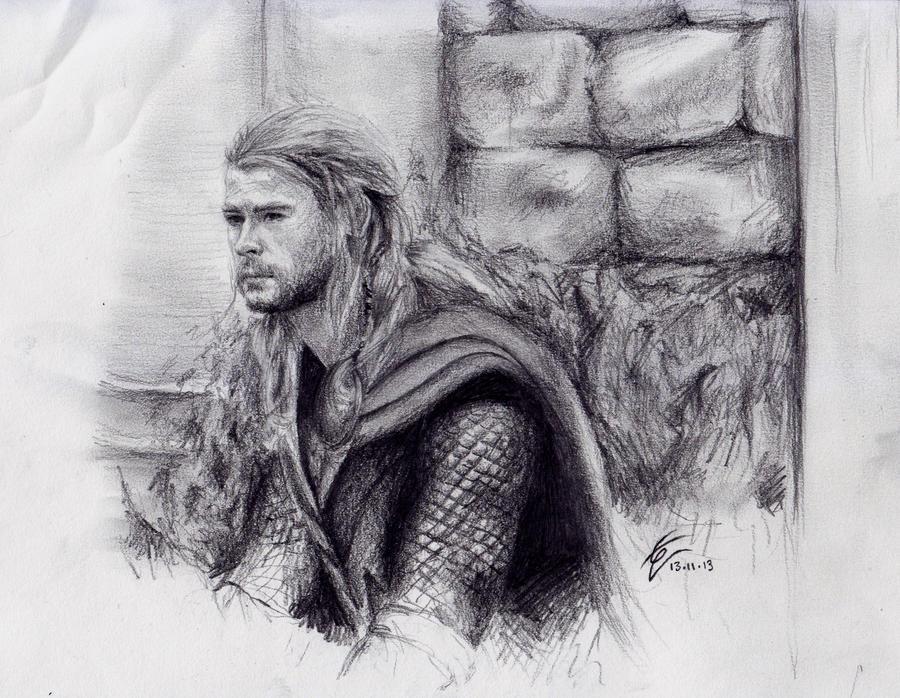 Thor Sketch By IzziwizVIII On DeviantArt