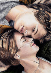 The Fault In Our Stars - coloured pencil
