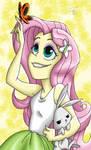 Fluttershy Poster (Rainbow Rocks Credits)