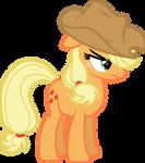 Applejack is not amused (vector)