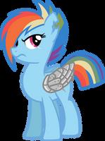 Peace Time Rainbow Dash (Sombra War No Uniform) by davidsfire