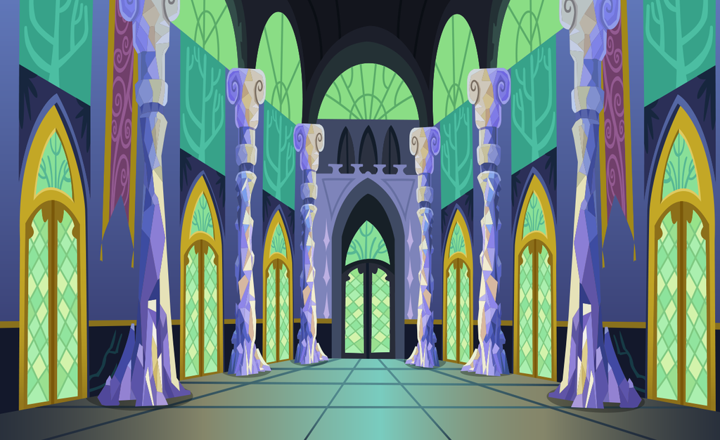 Castle Interior Halls Background Vector By Davidsfire On