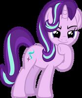 Starlight Glimmer (mischievous thinking vector) by davidsfire