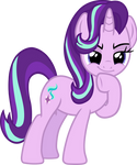 Starlight Glimmer (mischievous thinking vector)