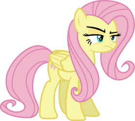 Fluttershy (not amused vector) by davidsfire