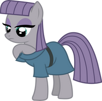 Maud Pie and Boulder (putting away vector) by davidsfire