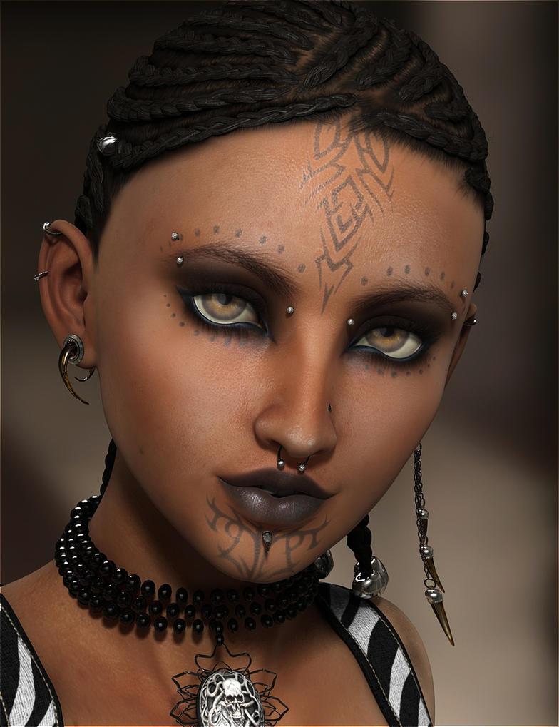 Ziva - Modern Tribal by Vampyric-Saiyaness