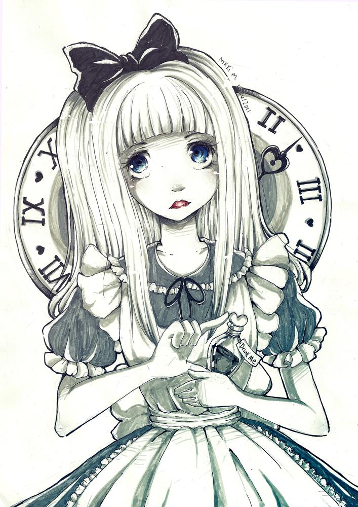 Drink Me in Monochrome by blackberry-tea