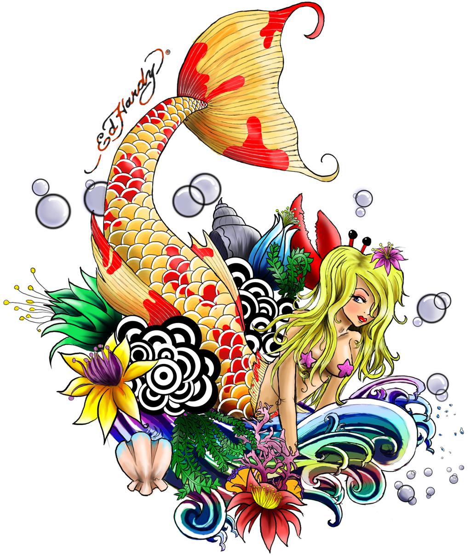 Under the sea tattoo design by lil elle on deviantart - Ed hardy designs wallpaper ...