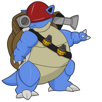 TF2 Pokemon - Soldier Blastoise by Jestermation
